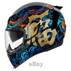 2018 Icon Airflite Full Face DOT Motorcycle Helmet Pick Size and Graphic