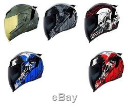 2019 Icon Airflite Full Face DOT Motorcycle Helmet Pick Size and Graphic Color