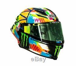 2019 Rossi Pista Gp-r Agv #vr46 Paintbrush Winter Test Motorcycle Crash Helmet