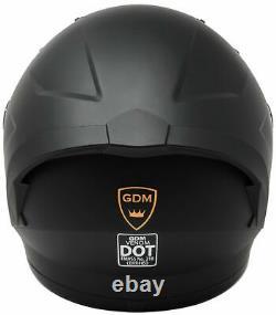 2021 GDM Venom Motorcycle Helmet with Intercom Bluetooth Headset +Iridium Shield