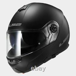 2XL XXL Flip up chin guard LS2 Strobe Full Face Road Motorbike Helmet Matt Black