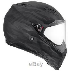 AGV AX-8 Naked Carbon E2205 Multi Fury Motorcycle Helmet 2XS Black Motorbike Lid