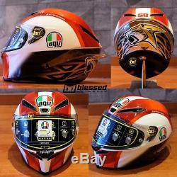 AGV Corsa R Simoncelli 58 Replica Motorbike Helmet SIZE -small, Medium Small