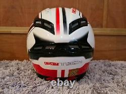 AGV GP Tech Motorcycle Helmet Race 7 Seven White And Red Sz M 57-58