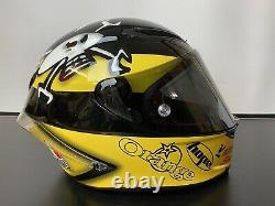 AGV Guy Martin Corsa E2205 Yellow Black Motorbike Motorcycle Track Helmet M / L
