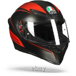 AGV K-1 K1 Warmup Matte Black Red Full Face Motorcycle Helmet Free Shipping