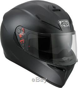 AGV K-3 SV Full-Face Motorcycle Helmet (Matte/Flat Black) Choose Size
