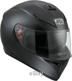 AGV K-3 SV Full-Face Motorcycle Helmet (Matte/Flat Black) L (Large)