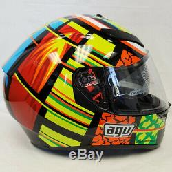 AGV K-3 SV Full Face Motorcycle Helmet Rossi 46 Elements Gloss Multi-Color Large