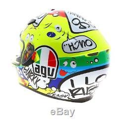 AGV K-3 SV Groovy Full Face Motorcycle Motorbike Helmet Yellow