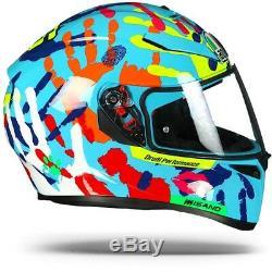 AGV K-3 SV Misano 2014 Hands Valentino Rossi Motorcycle Helmet Free Shipping