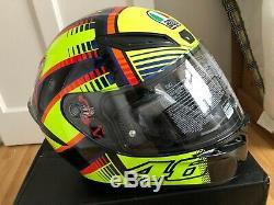 AGV K1 Full Face Motorcycle Motorbike Helmet Soleluna 2015 Rossi Replica LARGE