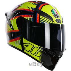 AGV K1 Full Face Motorcycle Motorbike Sport Rossi Replica Helmet Soleluna 2015