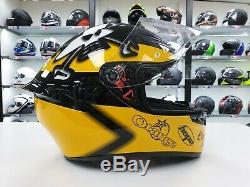 AGV K1 Guy Martin replica motorcycle sports racing crash helmet black yellow