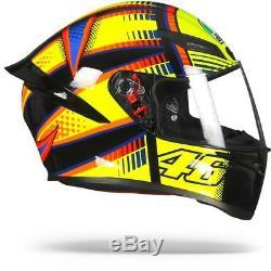 AGV K1 K-1 Soleluna 2015 Valentino Rossi Motorcycle Helmet Free Shipping
