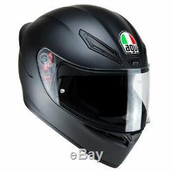 AGV K1 Matt Matte Black Full Face Sports Motorbike Motorcycle Helmet All Sizes