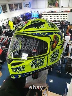AGV K1 Winter Test 2015 Medium Small Motorcycle Motorbike Helmet Paint Fault New