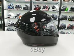 AGV K1 sports racing motorcycle crash helmet gloss black MS track road