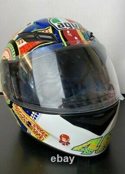 AGV K3 Dreamtime Valentino Rossi Replica Full Face Motorcycle Motorbike Helmet L
