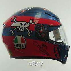 AGV K3-SV Guy Martin Pink/Blue Motorcycle Motorbike Helmet