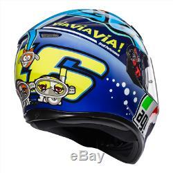 AGV K3 SV Motorcycle Helmet Rossi Misano 2015