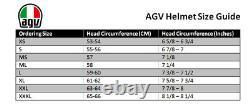 AGV K3-SV Pop White/Blue/Lime Motorcycle Motorbike Helmet
