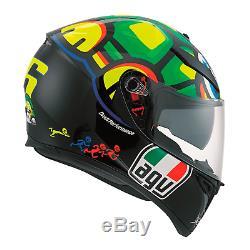 AGV K3 SV Rossi Tartaruga Motorcycle Motorbike Full Face Helmet Yellow Black