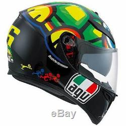 AGV K3 SV Tartaruga Turtle Valentino Rossi VR46 Motorcycle Helmet All Sizes