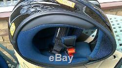 AGV K3 Solid Gloss Black Motorcycle Motorbike Helmet E2205 Size XL