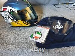 AGV K5 Guy Martin 3Some Motorbike Motorcycle Helmet -Blue/Pink/Yellow size ML 58