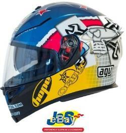AGV K5-S Guy Martin 3 Some Race Replica Motorcycle Helmet Racing Sport Blue J&S