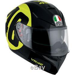 AGV Motorbike Motorcycle Sports K-3 SV Bollo 46 Helmet Black / Yellow