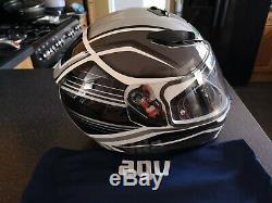 AGV Motorbike Motorcycle Sports K-3 SV Helmet Black / Silver / White Medium
