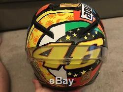 AGV PISTA GP CORSA R ROSSI 46 ELEMENTS MOTORYCLE Crash Helmet + DARK Visor LARGE