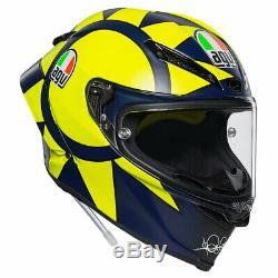 AGV Pista GP R Motorcycle Helmet Soleluna Valentino Rossi 2018 Replica Small