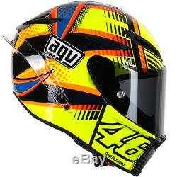 AGV Pista GP Rossi Soleluna Motorcycle Motorbike Race Helmet Qatar