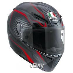 AGV Veloce GT E2205 Full Face Motorcycle Helmet L Black Gunmetal Red Motorbike