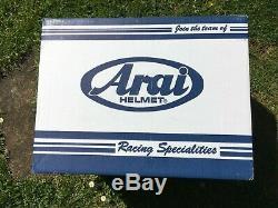 ARAI TOUR X4 CATCH RED DUAL SPORT MOTORCYCLE HELMET. Used condition MEDIUM