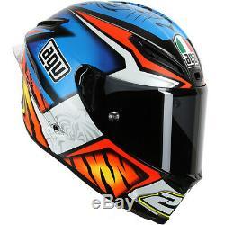 Agv Corsa 23 Matt Blue Carbon Fibre Motorcycle Track Helmet Size L