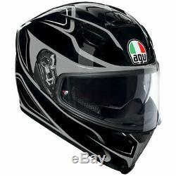 Agv K5-s Magnitude Black / Silver Motorcycle Helmet Sun Visor Free Pinlock
