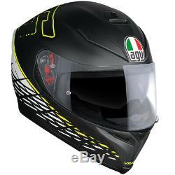 Agv K5-s Thorn Matt Black White Yellow Rossi Motorcycle Helmet Free Pinlock XL