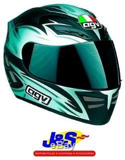 Agv Stealth Catalyst Full Face Motorcycle Helmet Motorbike Crash LID Black J&s