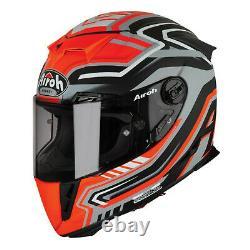 Airoh Gp500 Full Face Carbon Fibre Motorcycle Sportbike Helmet Rival Ktm Orange