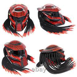 Alien Predator Motorcycle Helmet Full Face Safety Hat Cap Cool Red Men Knight