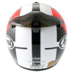 Arai Axces 2 II Sensai Red Full-face Motorcycle Helmet Motorbike Racing Race J&S