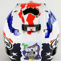 Arai Corsair X Australian Flag Mick Doohan Star Jubilee motorcycle helmet