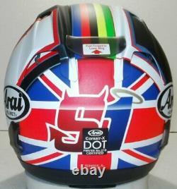 Arai Corsair X Haslam Black Frost NO SALES TAX option helmet RX-7V UK Flag Big H