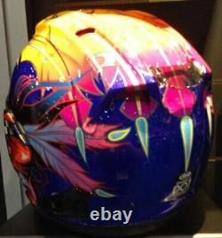 Arai Corsair X Russell 2 Blue NO SALES TAX Screaming Indian Chief option helmet