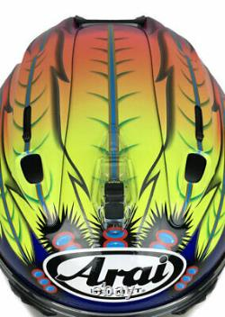 Arai Corsair X Scott Russell 2 Blue motorcycle helmet TLD Indian Sm Md Lg XL