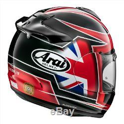 Arai Debut Flag UK Red Motorbike Motorcycle Helmet Race Track L SALE